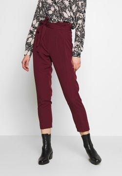 New Look - VICKY PAPERBAG TROUSER - Chinot - dark burgundy