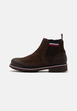 Tommy Hilfiger - CORPORATE ELASTIC BOOT - Stiefelette - cocoa