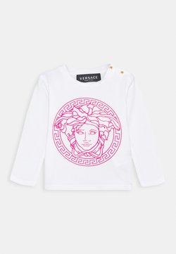 Versace - MAGLIETTA MANICA LUNGA UNISEX - Longsleeve - bianco/fuxia