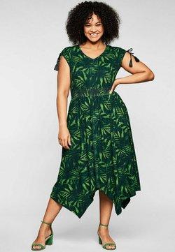 Sheego - Freizeitkleid - grün bedruckt