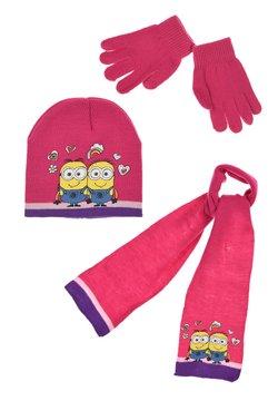 Minions - WINTER-SET 3-TLG  - Schal - pink