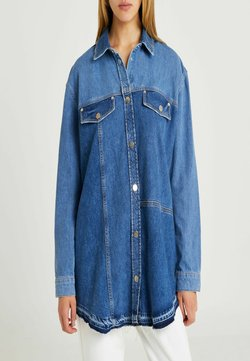 River Island - CHEST POCKETS - Giacca di jeans - blue