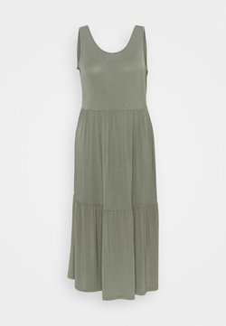 CAPSULE by Simply Be - TIERED VEST DRESS - Freizeitkleid - khaki
