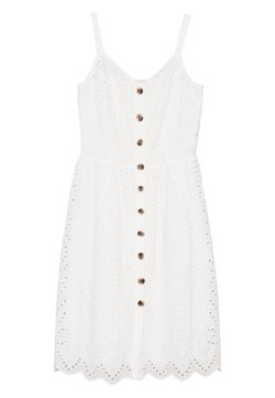 Vila - VICAMELINA DRESS - Korte jurk - snow white