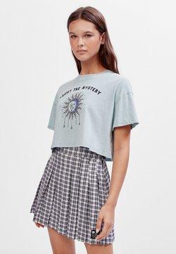 Bershka - T-shirt z nadrukiem - turquoise