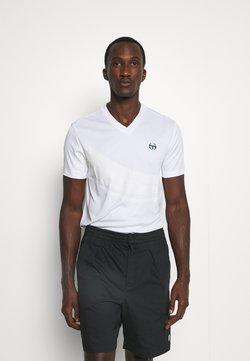 Sergio Tacchini - FAENZA V NECK TEE - T-Shirt print - brilliant white