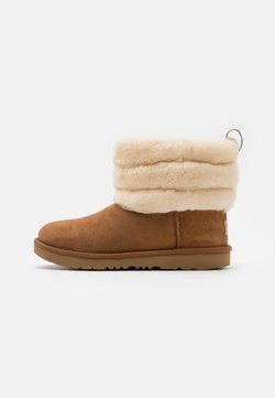 UGG - FLUFF MINI QUILTED - Stiefelette - chestnut