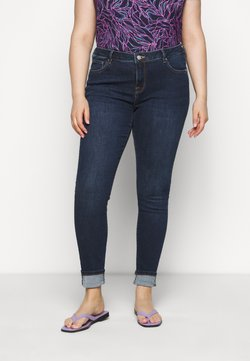 Selected Femme Curve - SLFINA - Jeans Skinny Fit - dark blue denim