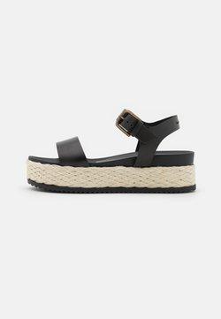 Marc O'Polo - ILARIA  - Korkeakorkoiset sandaalit - black