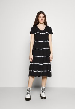 Noisy May - NMBUSTER TIE DYE DRESS - Jersey dress - black