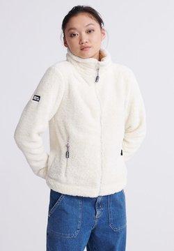 Superdry - Fleece jacket - cream
