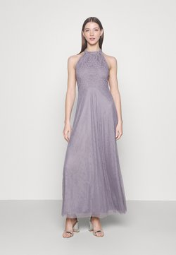 Vila - VIANGEELA HALTERNECK ANKLE DRESS - Ballkleid - quicksilver