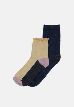 Becksöndergaard - MIX SOCK 2 PACK  - Socken - sandstone/solid navy