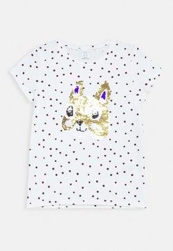 Lindex - SEQUINS - T-shirt print - light dusty white