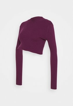 Glamorous Bloom - LONG SLEEVE  - Jersey de punto - grape wine