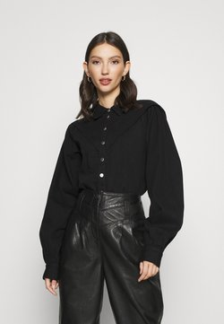 Topshop - CASUAL WESTERN  - Button-down blouse - black