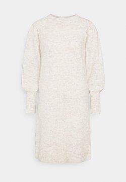 Selected Femme - SLFLINNA DRESS O-NECK - Neulemekko - sandshell