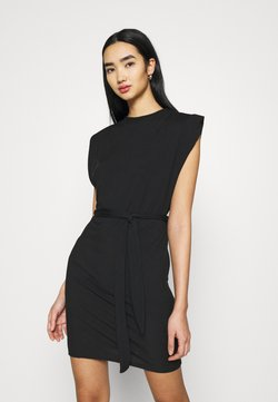 Missguided - SHOULDER PAD BELTED MINI DRESS - Cocktailkleid/festliches Kleid - black