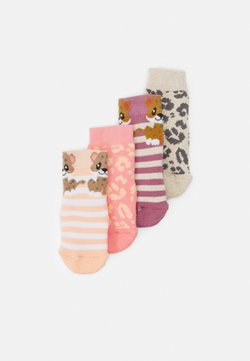 Ewers - LEOPARD 4 PACK UNISEX - Calcetines - pink