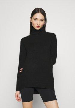 Vero Moda - VMPLAZA ROLLNECK LONG - Sweter - black