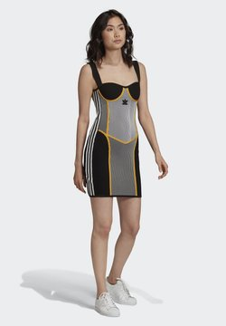 adidas Originals - PAOLINA RUSSO COLLAB SPORTS INSPIRED SLIM DRESS - Shift dress - black/white/ltonix/ac