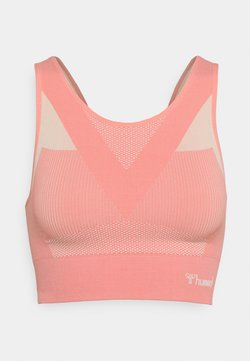 Hummel - HMLJOY SEAMLESS SPORTS - Top - eggnog/sugar coral