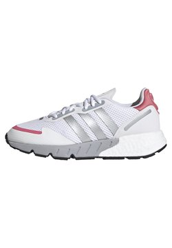 adidas Originals - ZX 1K BOOST  - Sneaker low - footwear white/silver metallic/hazy rose