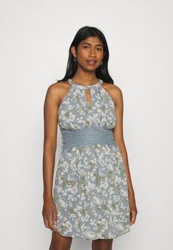 Vila - VIMILINA FLOWER DRESS - Cocktailkleid/festliches Kleid - ashley blue/white