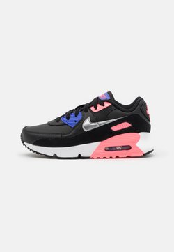 Nike Sportswear - AIR MAX 90  - Trainers - black/metallic silver/sunset pulse/sapphire