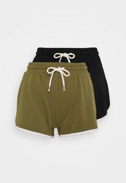 Monki - STINA 2 PACK - Jogginghose - khaki/black dark