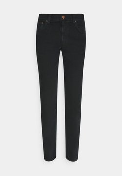 Nudie Jeans - LEAN DEAN - Jeansy Slim Fit - black skies