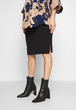 Cotton On - MATERNITY GATHERED SIDE SPLIT SKIRT - Falda de tubo - black