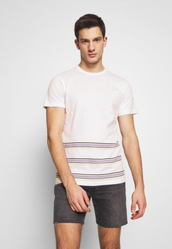 Another Influence - ANOTHER INFLUENCE WITH STRIPE - Print T-shirt - white/lilac