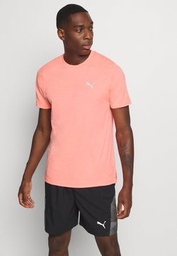 Puma - RUN FAVORITE TEE - Camiseta estampada - nrgy peach heather