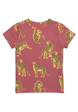 The Striped Cat - JUNO SS SNOW LEOPARD - T-shirt print - maroon