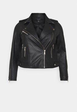 Vero Moda Curve - VMANNA SHORTJACKET  - Chaqueta de cuero - black