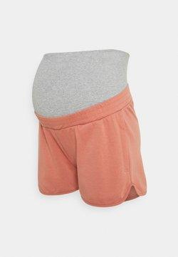 Pieces Maternity - PCMLINSA BUMPBAND LOUNGE  - Shorts - desert sand