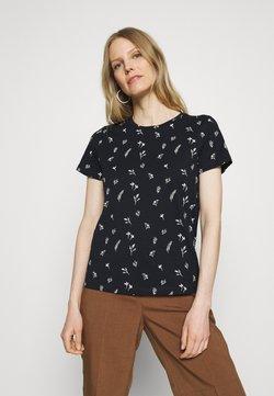 TOM TAILOR - CREW NECK PRINTED - T-Shirt print - navy garden