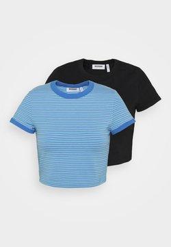 Weekday - GEMINI 2 PACK - T-Shirt print - blue/black