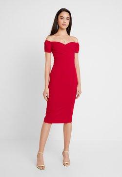 Topshop - BARDOT WRAP DRESS - Cocktail dress / Party dress - red