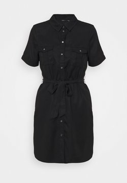 Vero Moda Petite - VMSILJA SHORT SHIRT DRESS - Blousejurk - blac