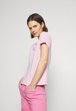 Marc O'Polo - ROUND NECK - T-Shirt print - bleached berry