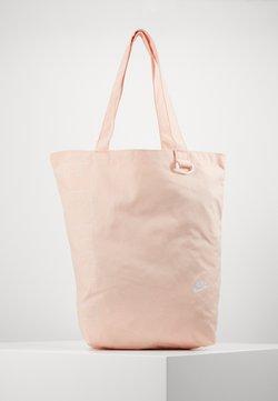 Nike Sportswear - HERITAGE UNISEX - Shopper - washed coral/washed coral/white
