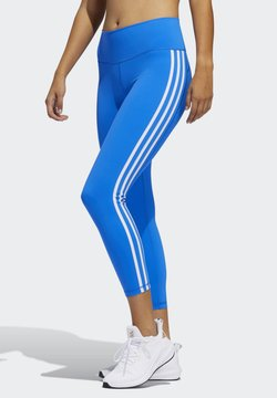 adidas Performance - BELIEVE THIS 2.0 3-STRIPES 7/8 LEGGINGS - Medias - blue