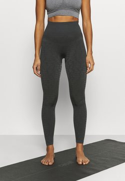 Casall - SHINY ALLIGATOR SEAMLESS - Tights - shadow grey