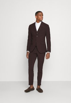 Isaac Dewhirst - THE FASHION SUIT 3 PIECE - Costume - bordeaux