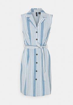 Vero Moda - VMAKELASANDY  SHORT DRESS - Jeanskleid - light blue denim/white
