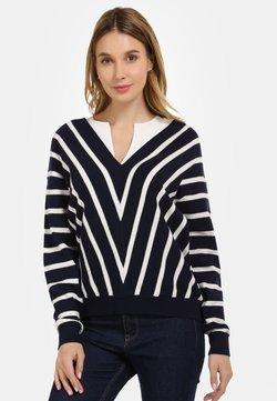 usha - Strickpullover - woolen white/marine