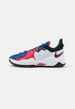 Nike Performance - PG 5 - Indoorskor - white/crimson tint/black/laser crimson/rush blue