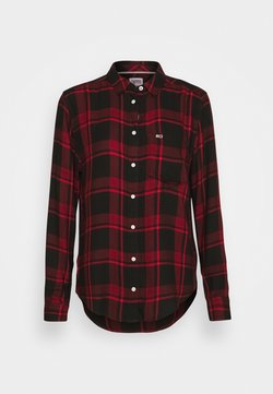 Tommy Jeans - FLUID CHECK - Chemisier - dark red/black